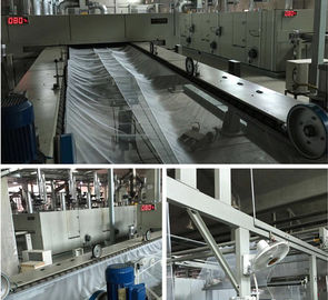 China Hot Air Textile Finishing Stenter Humanism Design Heat Preservation 3600mm Working Width supplier