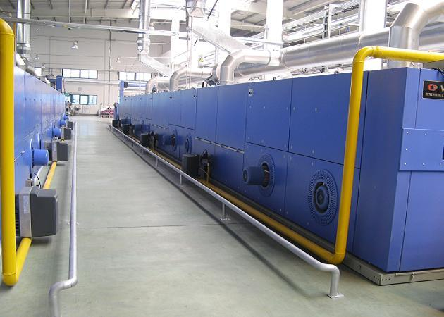 Oil Heat Setting Stenter , Knitting Finishing Machines Textile Loop Moisture Controlled